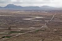 The Arghandab river meandering through Kandahar province, in southern Afghanistan after heavy seasonal rains.