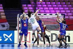 HERNING, DENMARK - DECEMBER 6: Nina Zulic shoots during the EHF Euro 2020 Group A match between Slovenia and France in Jyske Bank Boxen, Herning, Denmark on December 6, 2020. Photo Credit: Allan Jensen/EVENTMEDIA.