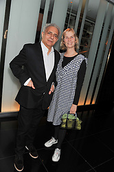 HANIF KUREISHI and PHILLIPA WALKER at W London - Leicester Square for the Liberatum Cultural Honour in Spice Market for John Hurt, CBE in association with artist Svetlana K-Lié on 10th April 2013.