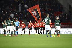 February 10, 2019 - Rennes, France - Joie Hatem Ben Arfa (Rennes) vet deception  (Credit Image: © Panoramic via ZUMA Press)