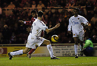 Fotball<br /> Premier League England 2004/2005<br /> Foto: SBI/Digitalsport<br /> NORWAY ONLY<br /> <br /> Middlesbrough v Aston Villa<br /> Barclays Premiership, 18/12/2004.<br /> <br /> Middlesbrough's Michael Reiziger strikes to score Middlesbrough's third goal.
