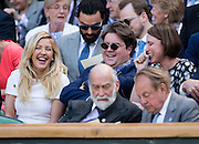WIMBLEDON - GB -  6th July 2016: The Wimbledon Tennis Championship at the All England Lawn Tennis Club in S.E. London.<br /> <br /> Ellie Goulding watches Roger Federer vs Marin Cilic<br /> ©Ian Jones/Exclusivepix Media