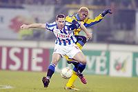 Fotball , 15. desember 2004, SC Heerenveen - SK Beveren , 15-12-2004 , UEFA Cup , Arek Radomski og Romaric N'Dri