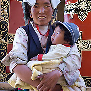 Portraits of local village people. Tibet. Asia.