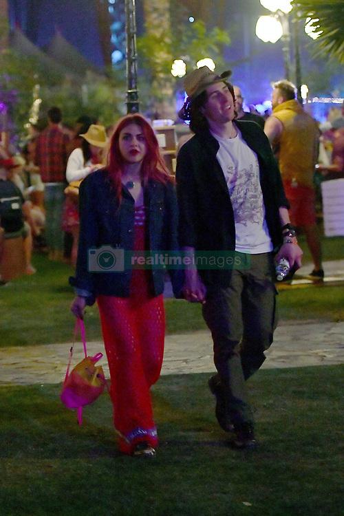EXCLUSIVE: Frances Bean Cobain and her boyfriend Matthew Cook hit up Coachella. 13 Apr 2018 Pictured: Frances Bean Cobain and Matthew Cook. Photo credit: Snorlax / MEGA TheMegaAgency.com +1 888 505 6342