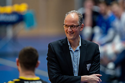 Coach Redbad Strikwerda of Dynamo in action during the second final league match between Amysoft Lycurgus vs. Draisma Dynamo on April 24, 2021 in Groningen.
