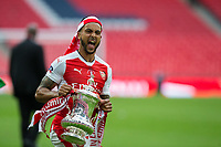 Arsenal's Theo Walcott celebrates with the trophy after the match   <br /> <br /> <br /> Photographer Craig Mercer/CameraSport<br /> <br /> The Emirates FA Cup Final - Arsenal v Chelsea - Saturday 27th May 2017 - Wembley Stadium - London<br />  <br /> World Copyright © 2017 CameraSport. All rights reserved. 43 Linden Ave. Countesthorpe. Leicester. England. LE8 5PG - Tel: +44 (0) 116 277 4147 - admin@camerasport.com - www.camerasport.com