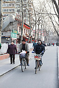 China, Beijing, Bicycle riders