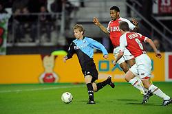 03-04-2010 VOETBAL: AZ - FC UTRECHT: ALKMAAR<br /> FC utrecht verliest met 2-0 van AZ / Jeremain Lens en Mihai Nesu<br /> ©2009-WWW.FOTOHOOGENDOORN.NL