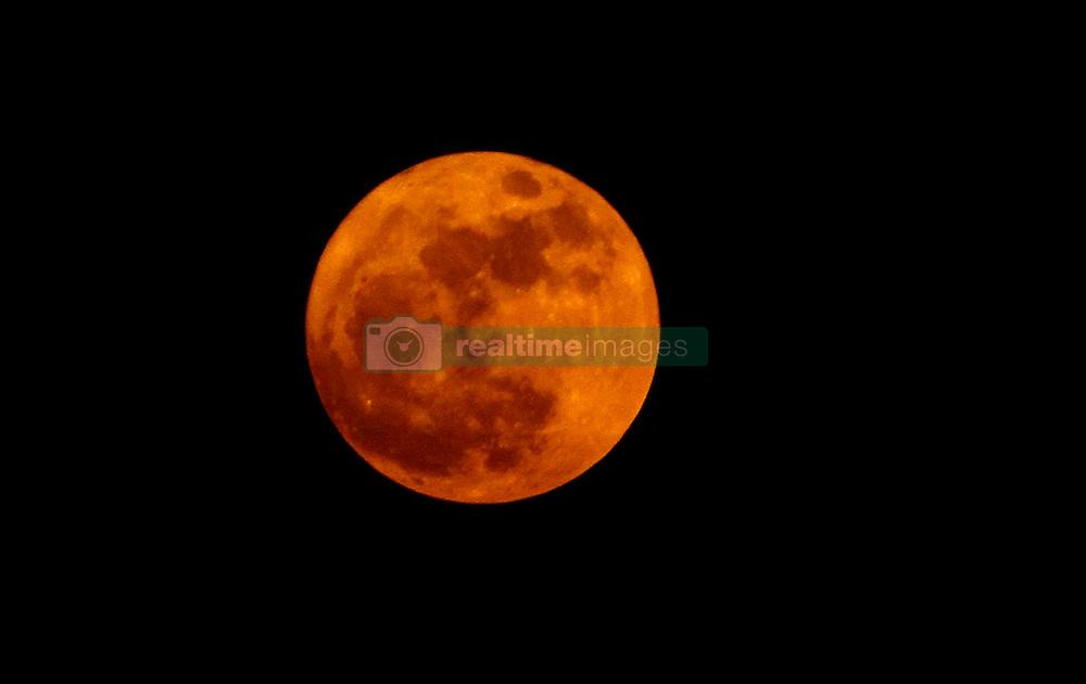 November 14, 2016 - Bhubaneswar, India - The Super Moon rising in the sky atop of eastern Indian city Bhubaneswar, India on Monday, November 14, 2016. (Credit Image: © Str/NurPhoto via ZUMA Press)