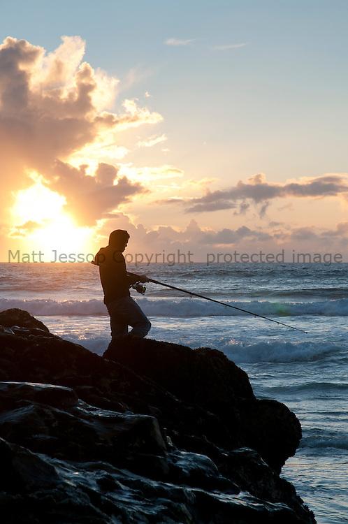 Chapel Porth bass fishing
