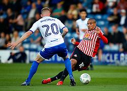 Wahbi Khazri of Sunderland takes on Alex Whitmore of Bury - Mandatory by-line: Matt McNulty/JMP - 10/08/2017 - FOOTBALL - Gigg Lane - Bury, England - Bury v Sunderland - Carabao Cup - First Round