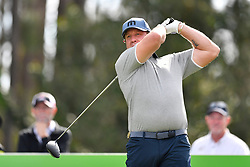 January 19, 2019 - Lake Buena Vista, FL, U.S. - LAKE BUENA VISTA, FL - JANUARY 19: Jeremy Roenick tees off on hole 2 during the third round of the Diamond Resorts Tournament of Champions on January 19, 2019, at Tranquilo Golf Course at Fours Seasons Orlando in Lake Buena Vista, FL. (Photo by Roy K. Miller/Icon Sportswire) (Credit Image: © Roy K. Miller/Icon SMI via ZUMA Press)