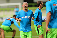 Forest Green Rovers Liam Noble (15) warm up during the Vanarama National League match between Forest Green Rovers and Bromley FC at the New Lawn, Forest Green, United Kingdom on 17 September 2016. Photo by Shane Healey.