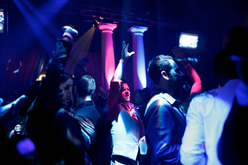 Patrons dance during Homocon 2012, a party for gay conservatives sponsored by GOProud at The Honey Pot nightclub in Ybor City during the 2012 Republican National Convention on August 28, 2012.