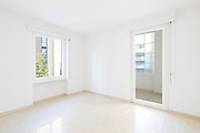 Empty room, clean white walls