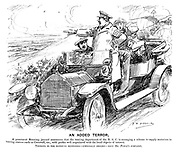 An Added Terror. A prominent motoring journal announces that the touring department of the RAC is arranging a scheme to supply motorists in touring centres such as Cornwall, etc., with guides well acquainted with the local objects of interest. Tourists in the districts mentioned — especially drivers — have Mr Punch's sympathy.