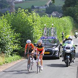 Boels Rental Ladiestour 2013 Stage 6 Bunde - Berg en Terblijt Marieke van Wanroij en Liesbet De Vocht