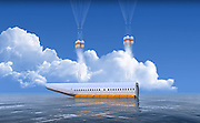 """This Plane Can Detach Its Cabin In Case Of Emergency<br /> <br /> What if we could survive a plane crash? Ukrainian aviation engineer Vladimir Tatarenko has been working 3 years to find a way. And he did. He invented a detachable plane cabin which can be ejected within the seconds in case of emergency.<br /> The cabin can land both on ground and water. It has parachutes attached to its roof and inflatable rubber tubes to keep it afloat if needed. """"Surviving in a plane crash is possible,"""" Vladimir Tatarenko told LiveLeak. """"While aircraft engineers all over the world are trying to make planes safer, they can do nothing about the human factor.""""<br /> Of course, if the plane explodes or is under a rocket attack, it wouldn't help. Also, some argue that the detachable cabin could undermine the structural integrity of the plane. Finally, what about the pilots..?<br /> <br /> Photo shows: No need to worry about your luggage – the cabin also includes a storage space<br /> ©Exclusivepix Media"""