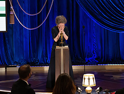 Yuh-Jung Youn accepts the Oscar® for Actress in a Supporting Role during the live ABC Telecast of The 93rd Oscars® at Union Station in Los Angeles, CA, USA on Sunday, April 25, 2021. Photo by Todd Wawrychuk/A.M.P.A.S. via ABACAPRESS.COM
