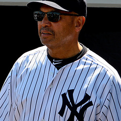 March 4, 2012; Tampa Bay, FL, USA; New York Yankees alumni Reggie Jackson is honored before a spring training game against the Philadelphia Phillies at George M. Steinbrenner Field. Mandatory Credit: Derick E. Hingle-US PRESSWIRE