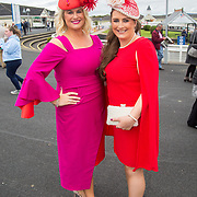 08.10.17.            <br /> Pictured at Limerick Racecourse for the  Keanes Most Stylish Lady competition were, Niamh Moloney and Eimear Murphy. Picture: Alan Place