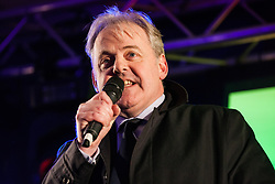 London, UK. 15th January, 2019. Guto Bebb, Welsh Conservative MP for Aberconwy, addresses pro-EU activists attending a People's Vote rally in Parliament Square as MPs vote in the House of Commons on Prime Minister Theresa May's proposed final Brexit withdrawal agreement.