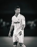 Real Madrid's Cristiano Ronaldo during the second half of an exhibition soccer match against the Los Angeles Galaxy, Saturday, July 16, 2011, at Memorial Coliseum in Los Angeles. (AP Photo/Bret Hartman)