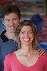 United States, Washington, Bellevue, engaged couple.  MR