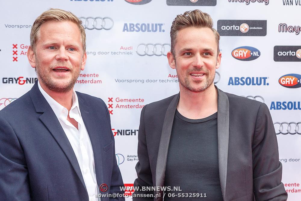 NLD/Amsterdam/20150629 - Uitreiking Rainbow Awards 2015, Patrick Martens en Stephan Stokman