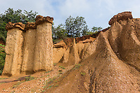 """Phae Muang Phi Forest Park is known for its sandstone formations. Its Thai name means """"city of ghosts"""".  The soil and sandstone erosion has produced spectacular natural rock formations that resemble giant mushrooms, chimneys and pillars, some of which are 20 meters high. <br /> Phae Muang Phi is considered as Thailand's Grand Canyon"""