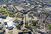 Nederland, Noord-Brabant, Breda, 23-08-2016; <br /> Centrum Breda met Chasse theater, Kloosterkazerne, Chasse Promenade. Kloosterplein, Oude Vest.<br /> aerial photo (additional fee required); <br /> luchtfoto (toeslag op standard tarieven); copyright foto/photo Siebe Swart