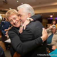 Gerry Flynn embraces his wife when it was announced he was elected