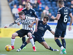 Dunfermline's Declan McManus and Falkirk's Tom Taiwo. Falkirk 2 v 0 Dunfermline, Scottish Challenge Cup played 7/9/2017 at The Falkirk Stadium.