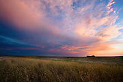 Sunset near Fort Benton, Montana.