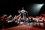 Green Day Performing at the Scottrade Center in St. Louis on December 13, 2009.