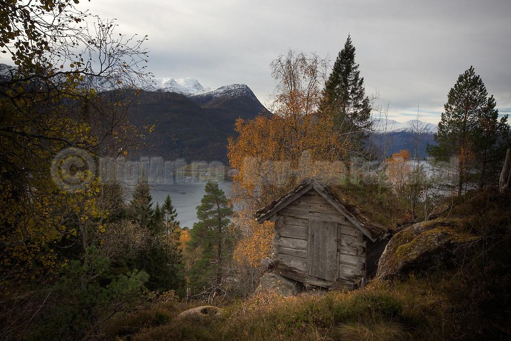 Tverrfjellet/Aldalen med utsikt utover Austefjorden