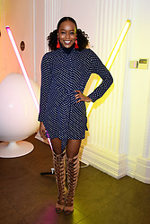 EDITORIAL USE ONLY<br /> Annaliese Dayes at the FOREO launch party in London for the world&Otilde;s first smart mask device, the FOREO UFO.