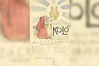 "Hrvatsko pjevačko društvo ""Kolo"" slavi svoju četrdesetu godišnjicu / [Oton] Iveković. <br /> <br /> Impresum1902.<br /> Materijalni opis1 crtež : akvarel, olovka ; 174 x 105 mm.<br /> AutorIveković, Oton(17. 4. 1869.–4. 7. 1939.)<br /> Vrstavizualna građa • crteži<br /> ZbirkaGrafička zbirka NSK • Zbirka crteža 20. stoljeća<br /> Formatimage/jpeg<br /> SignaturaGZAH 621 ive 66<br /> Obuhvat(vremenski)20. stoljeće<br /> NapomenaLijevo dolje olovkom: škicirao Iveković. • Skica za plakat kojeg je iste godine izradila tiskara V. Rožankowski i drug, Zagreb.<br /> PravaJavno dobro<br /> Identifikatori000058765<br /> NBN.HRNBN: urn:nbn:hr:238:855486 <br /> <br /> Izvor: Digitalne zbirke Nacionalne i sveučilišne knjižnice u Zagrebu"