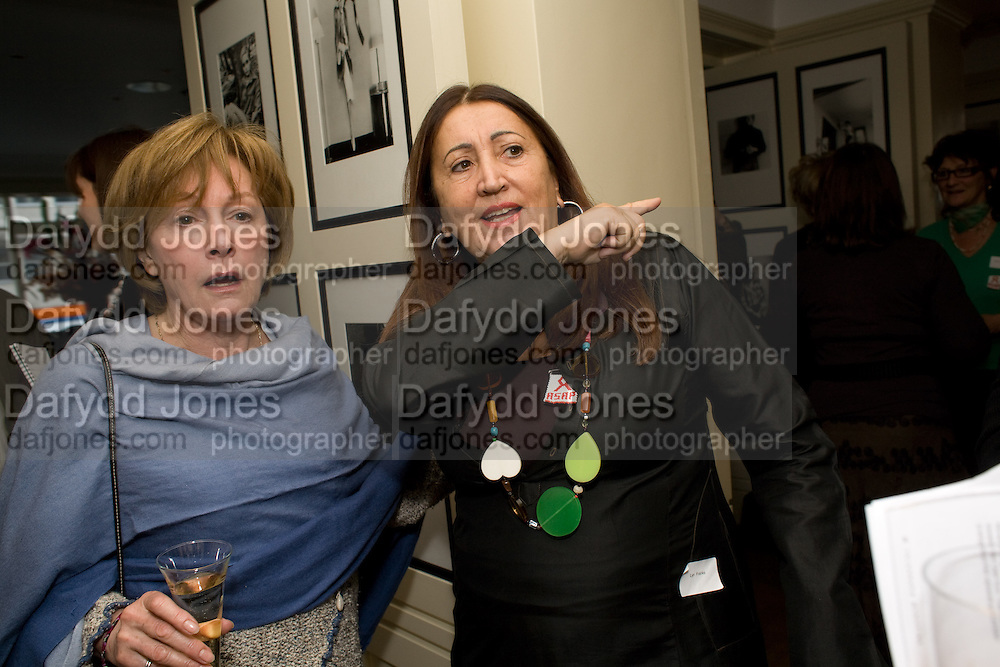 CAROLE CATTO; LYNN FRANKS, Grandmothers United for ASAP. Vogue House. Hanover Sq. London. 22 October 2008 *** Local Caption *** -DO NOT ARCHIVE -Copyright Photograph by Dafydd Jones. 248 Clapham Rd. London SW9 0PZ. Tel 0207 820 0771. www.dafjones.com