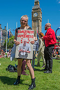 Coalition of cuteness - A day after the election result protestors gather to ask for Theresa May to quit and not do a deal with the DUP. Who people fear because of their views on abrtion, gay marriage etc. Westminster, London, 10 Jun 2017