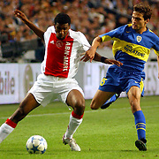 NLD/Amsterdam/20050731 - LG Amsterdam Tournament 2005, Ajax - Boca Juniors, Ryan Babel en Jose Calvo