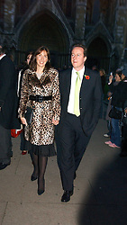 DAVID & SAMANTHA CAMERON at the wedding of Clementine Hambro to Orlando Fraser at St.Margarets Westminster Abbey, London on 3rd November 2006.<br /><br />NON EXCLUSIVE - WORLD RIGHTS