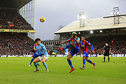31 December 2017 -  Premier League - Crystal Palace v Manchester City - Patrick van Aanholt of Crystal Palace in action with Leroy Sane of Manchester City - Photo: Marc Atkins/Offside