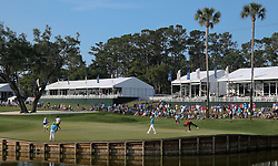May 11, 2018 - Ponte Vedra Beach, Florida, United States - A view of the 16th green during the second round of The PLAYERS Championship at TPC Sawgrass. (Credit Image: © Debby Wong via ZUMA Wire)