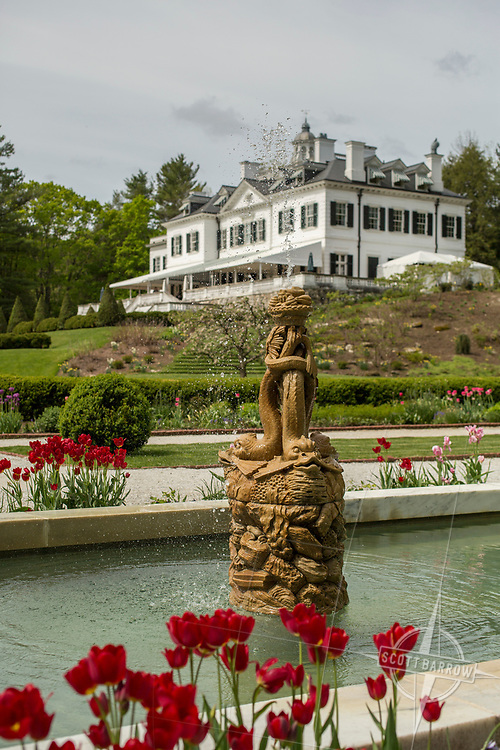 The Mount.  Edith Wharton's home in Lenox, MA. EDITORIAL USE ONLY.