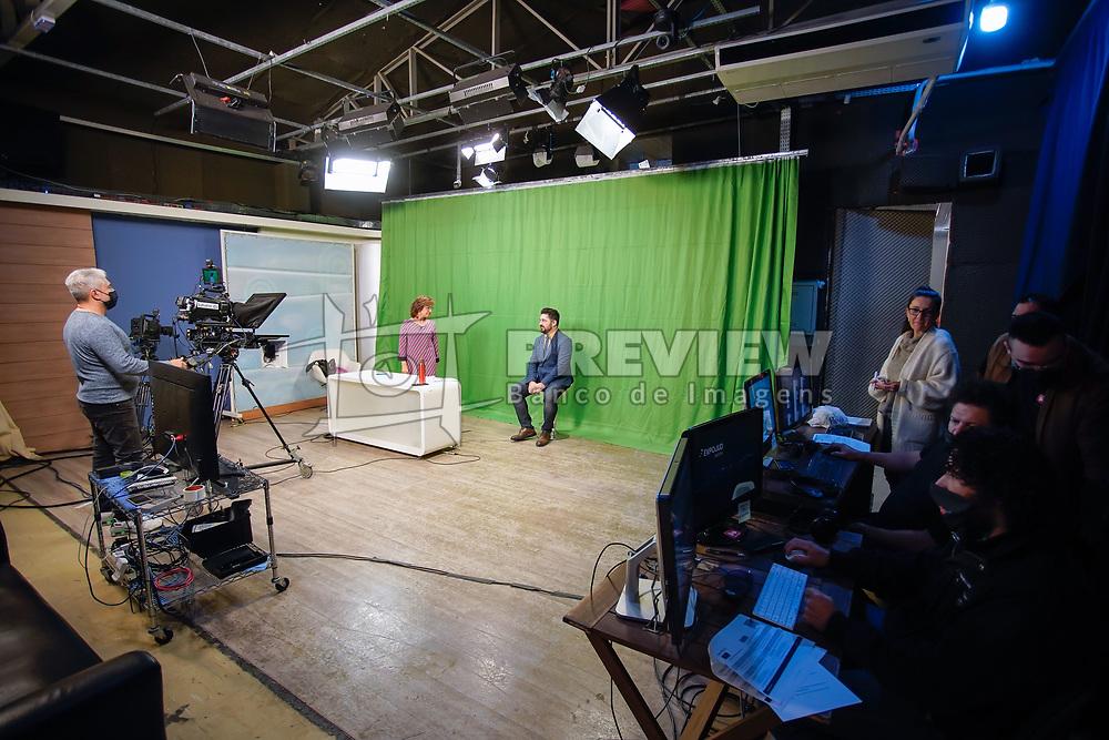 Bastidores da transmissão do Expojud online FOTO: Cesar Lopes/ Agência Preview