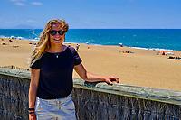 France, Pyrénées-Atlantiques (64), Pays Basque, Anglet, la championne du monde de Surf Pauline Ado // France, Pyrénées-Atlantiques (64), Basque Country, Anglet, the world champion of Surfing Pauline Ado