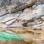 Every piece of this photo is a component of glacial action and weathering: from the fine silts to the glacier melt, the color of the water, the smooth texture of the rock.