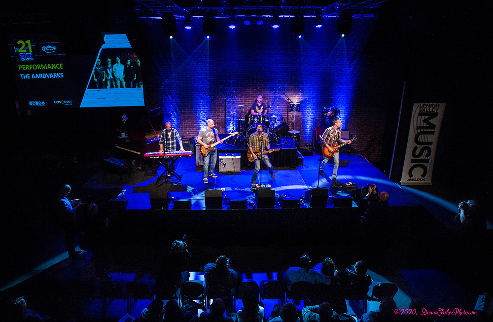 The Aardvarks. The 21st Annual Lehigh Valley Music Awards Show<br /> presented by the GLVMA & ArtsQuest, sponsored by Martin Guitar & presented by Tri Outdoor Advertising was held<br /> Sunday, March 1st, 2020 at The Musikfest Cafe at ArtQuest SteelStacks in Bethlehem, Pa..